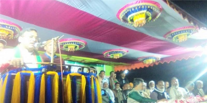 জামালগঞ্জে  সুনামগঞ্জ- ১ আসনের এমপি রতনকে সংবর্ধনা