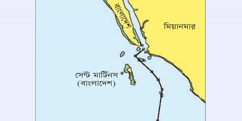 সেন্টমার্টিন দ্বীপকে আবারও নিজেদের দাবি করছে মিয়ানমার॥
