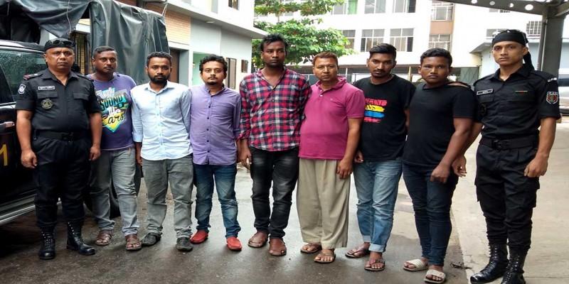 নারায়ণগঞ্জের ফতুল্লায় 'গ্যাংস্টার গ্রুপে'র ৭ সদস্য আটক॥