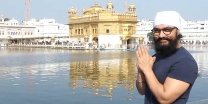 স্বর্ণ মন্দিরে গেলেন বলিউড সুপারষ্টার আমির খান॥