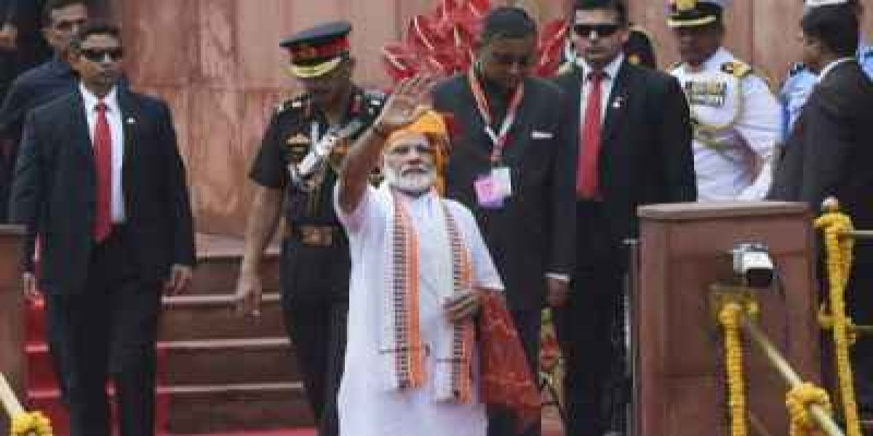 আজ ভারতের ৭৪ তম স্বাধীনতা দিবস ॥ লালকেল্লায় পতাকা উত্তোলন করলেন প্রধানমন্ত্রী মোদী