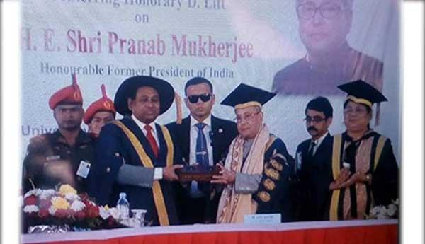 ভারতের সাবেক রাষ্ট্রপতি প্রণব মুখার্জিকে চট্টগ্রাম বিশ্ববিদ্যালয়ের ডি-লিট ডিগ্রি প্রদান